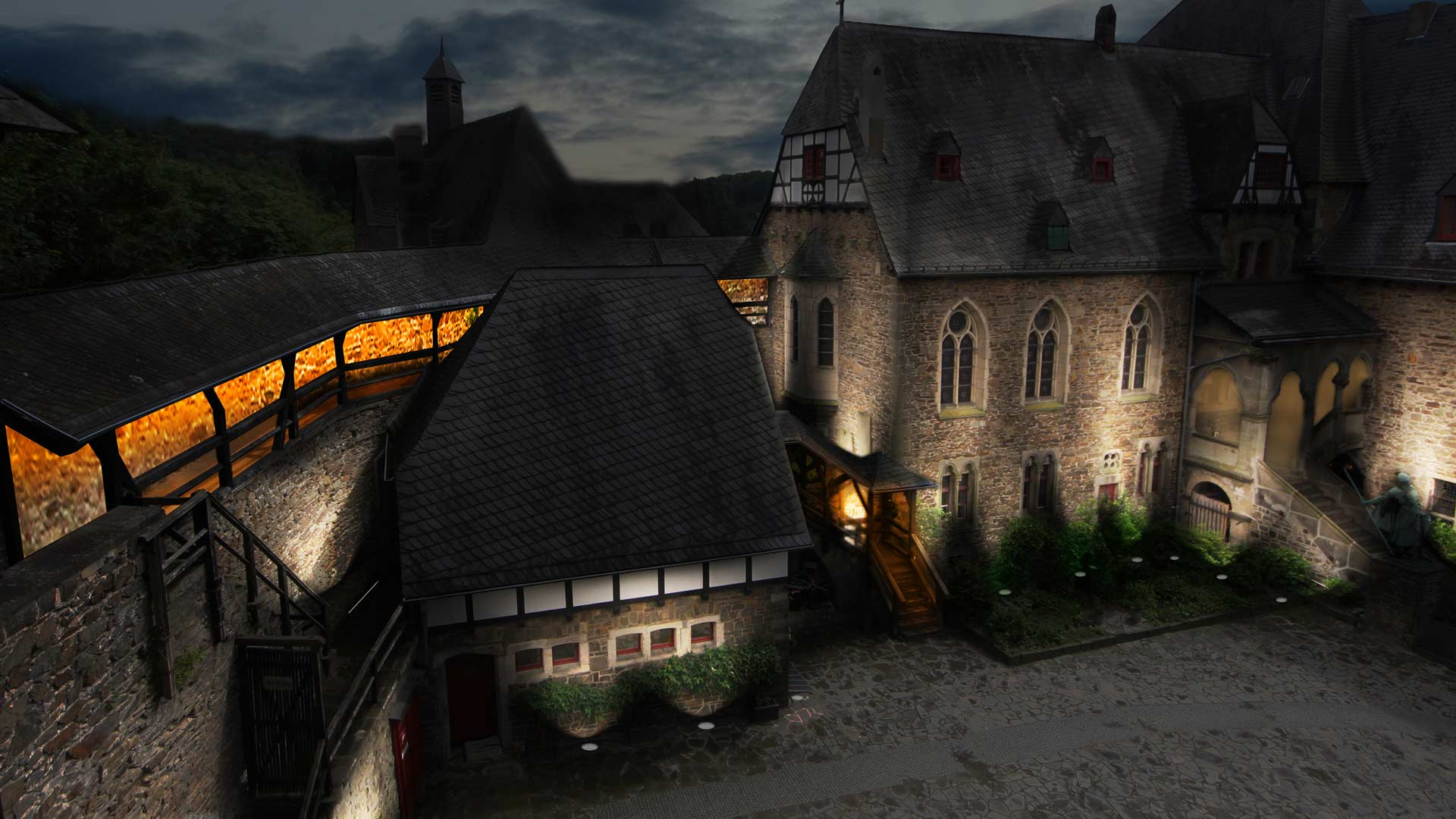 MAASS-Lichtplanung_Wettbewerbsbeitrag Lichtinszenierung Schloss Burg__MAASS-Licht-SchlossBurg-01