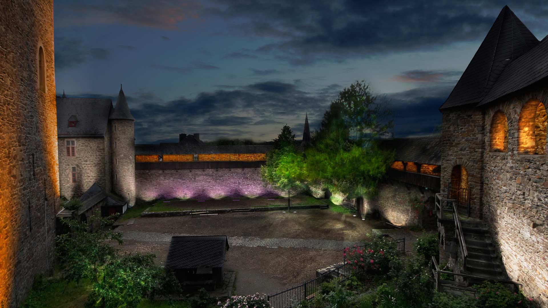 MAASS-Lichtplanung_Wettbewerbsbeitrag Lichtinszenierung Schloss Burg__MAASS-Licht-SchlossBurg-03