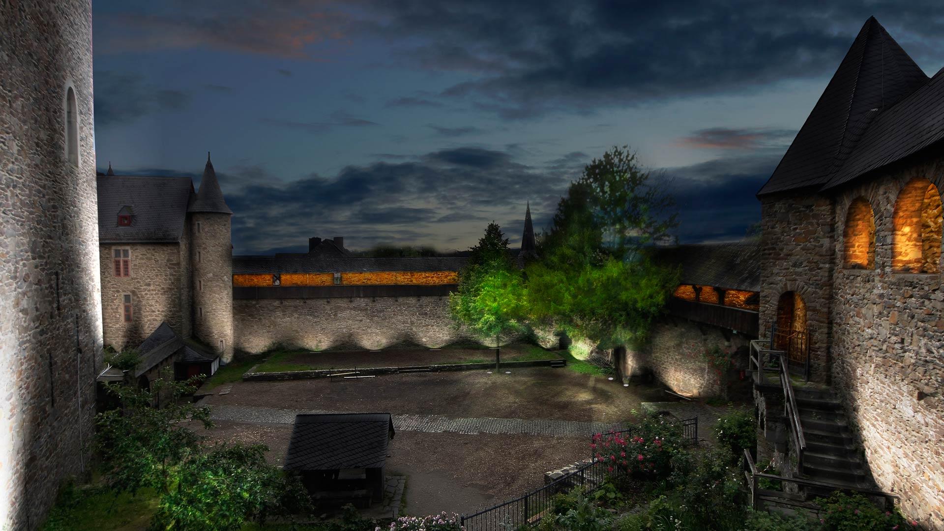 MAASS-Lichtplanung_Wettbewerbsbeitrag Lichtinszenierung Schloss Burg__MAASS-Licht-SchlossBurg-04