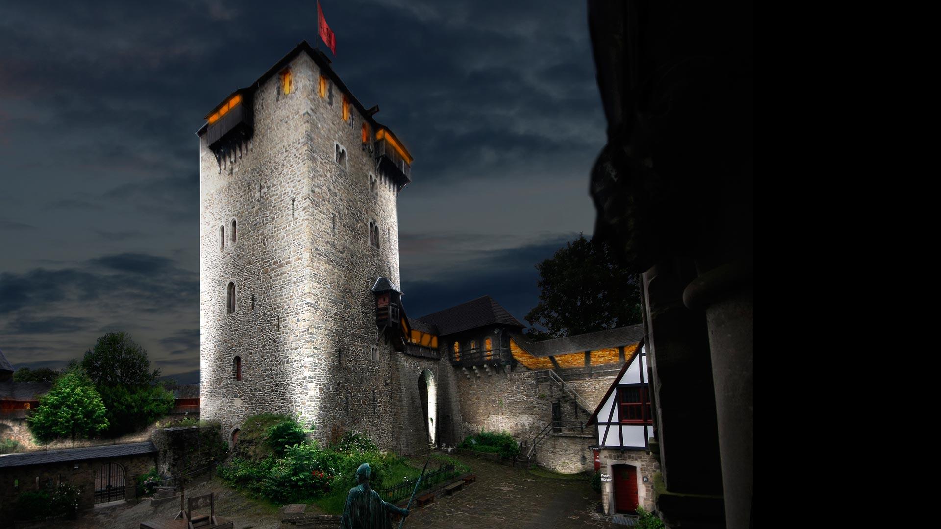 MAASS-Lichtplanung_Wettbewerbsbeitrag Lichtinszenierung Schloss Burg__MAASS-Licht-SchlossBurg-06