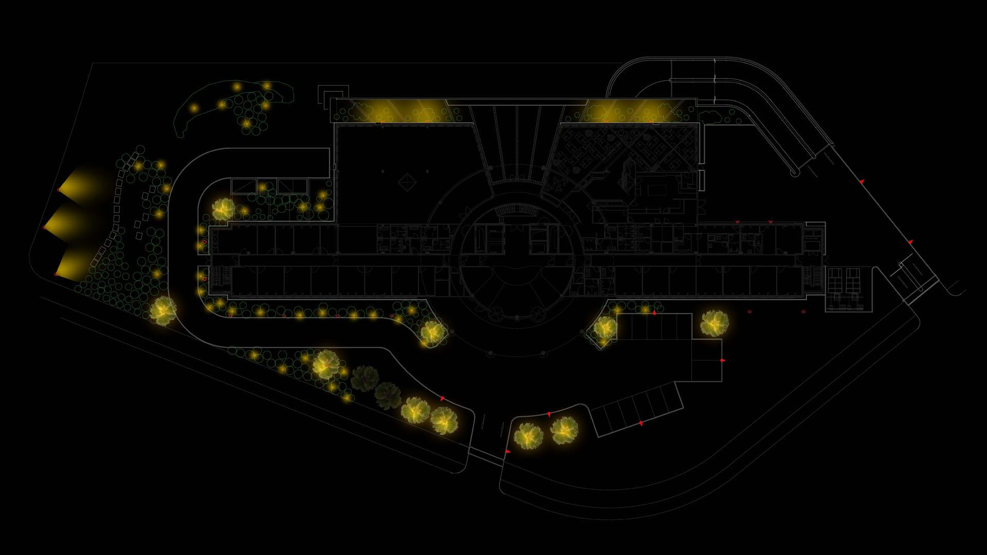 MAASS-Lichtplanung_Lichtplanung für Fassade und Freiflächen__02_Olof-Palme-Straße_Slideshow_01