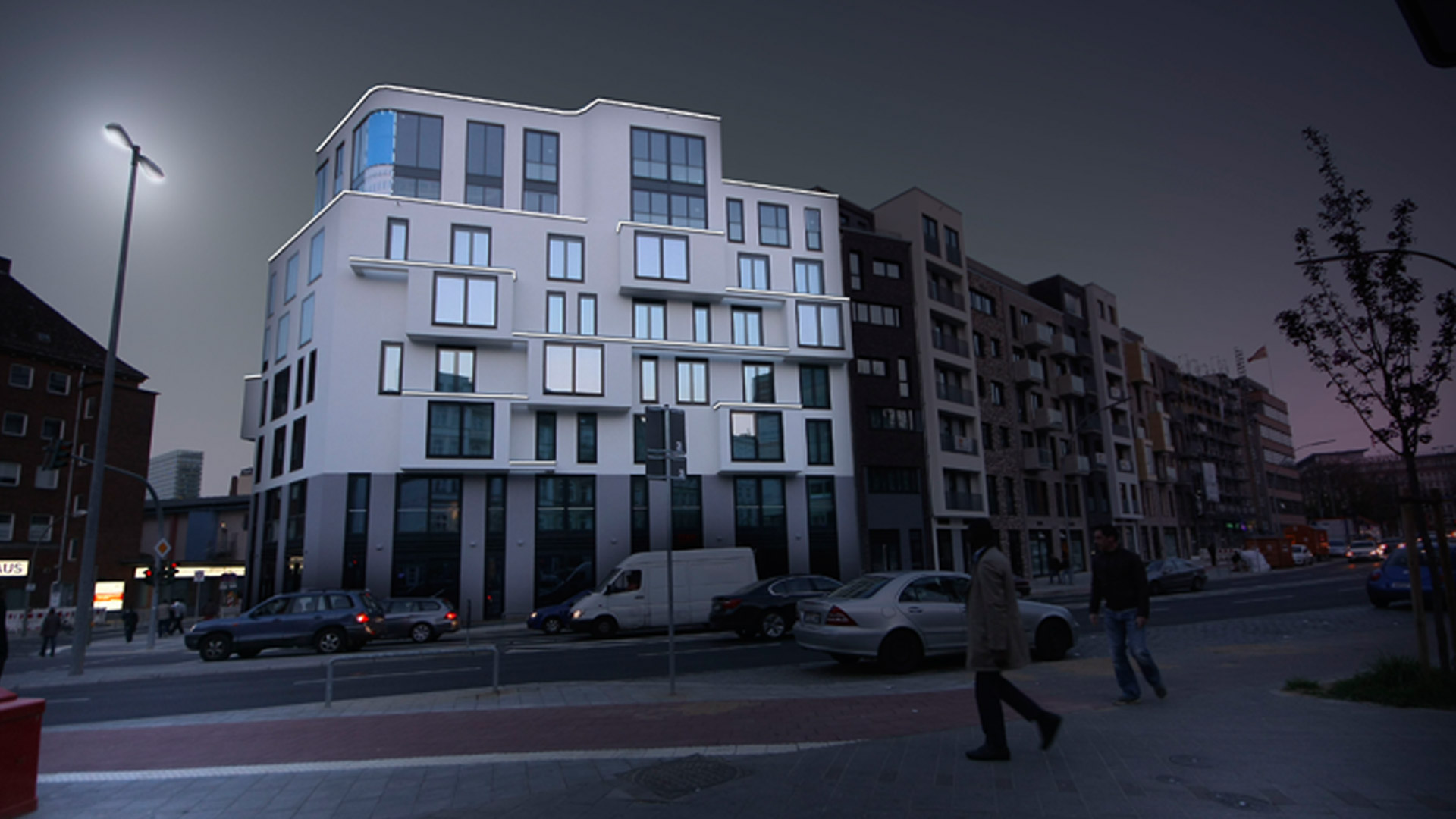 MAASS-Lichtplanung_Fassadenbeleuchtung Steinkreuzquartier in Hamburg__MAASS-Fassadenbeleuchtung-Steinkreuzquartier-003
