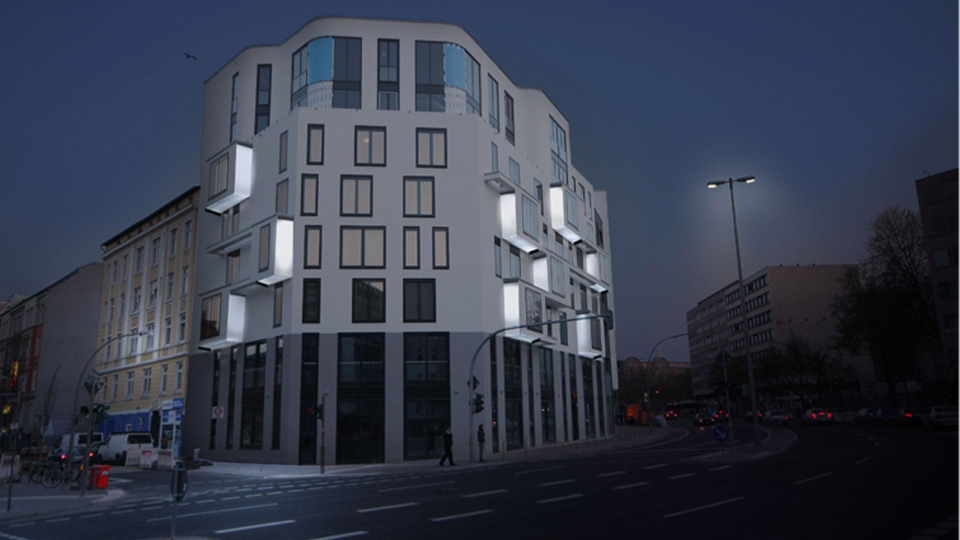 MAASS-Lichtplanung_Fassadenbeleuchtung Steinkreuzquartier in Hamburg__MAASS-Fassadenbeleuchtung-Steinkreuzquartier-005