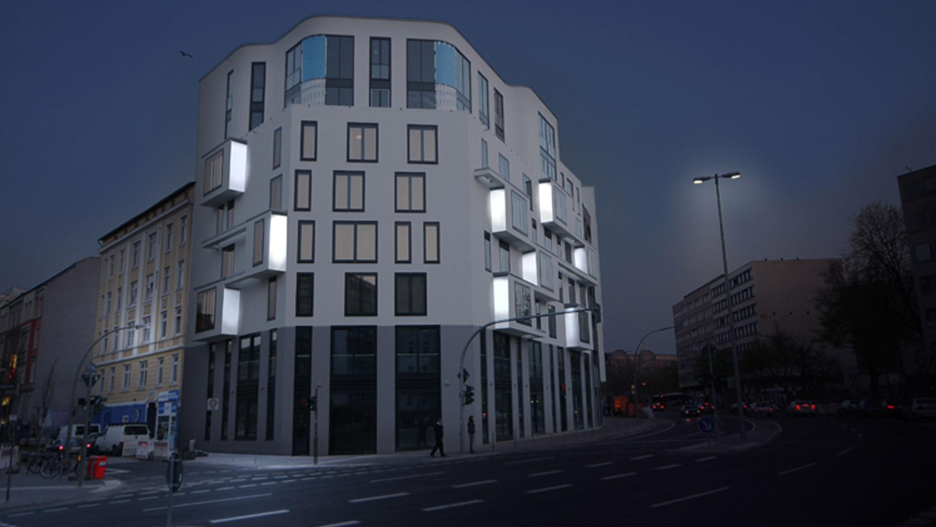 MAASS-Lichtplanung_Fassadenbeleuchtung Steinkreuzquartier in Hamburg__MAASS-Fassadenbeleuchtung-Steinkreuzquartier-006