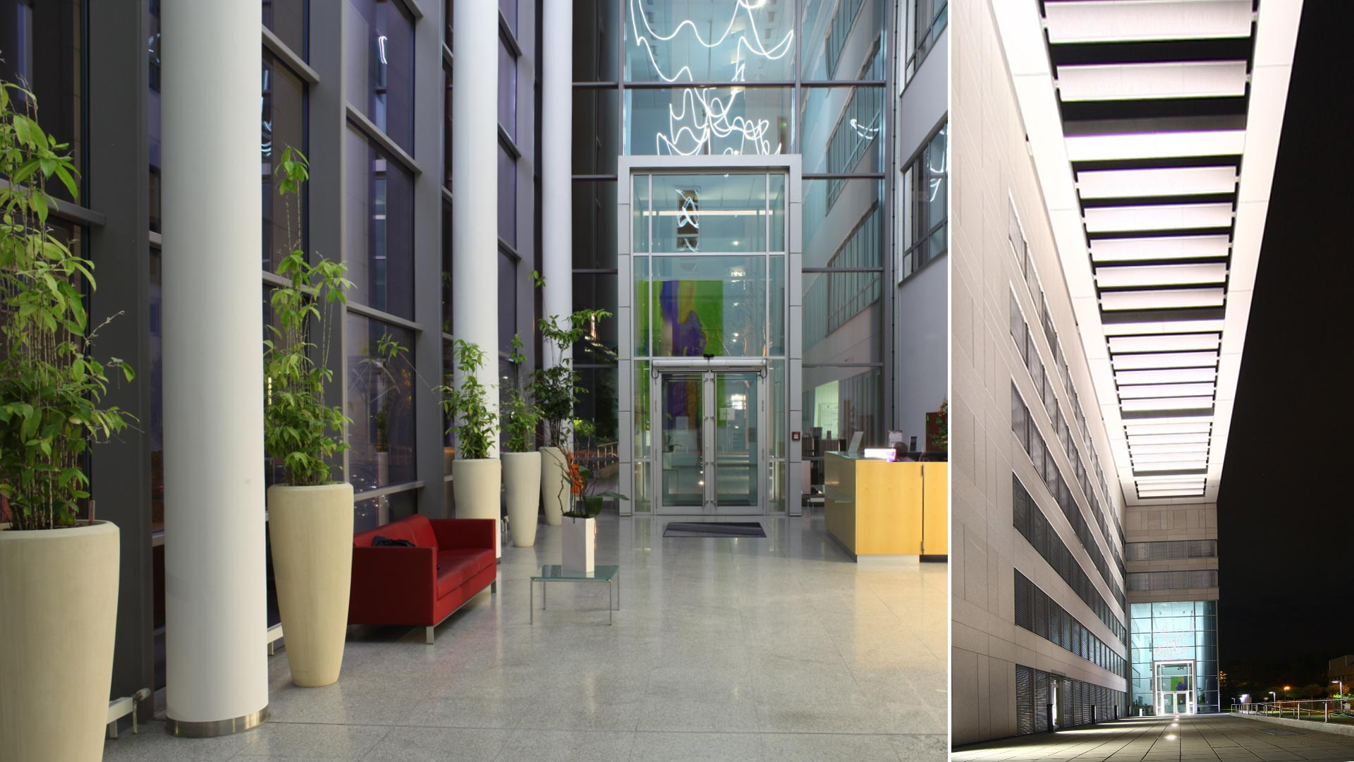 MAASS-Lichtplanung_Leuchtendesign für Foyer eines Bürogebäudes__MAASS-Foyer-Eschborn-003