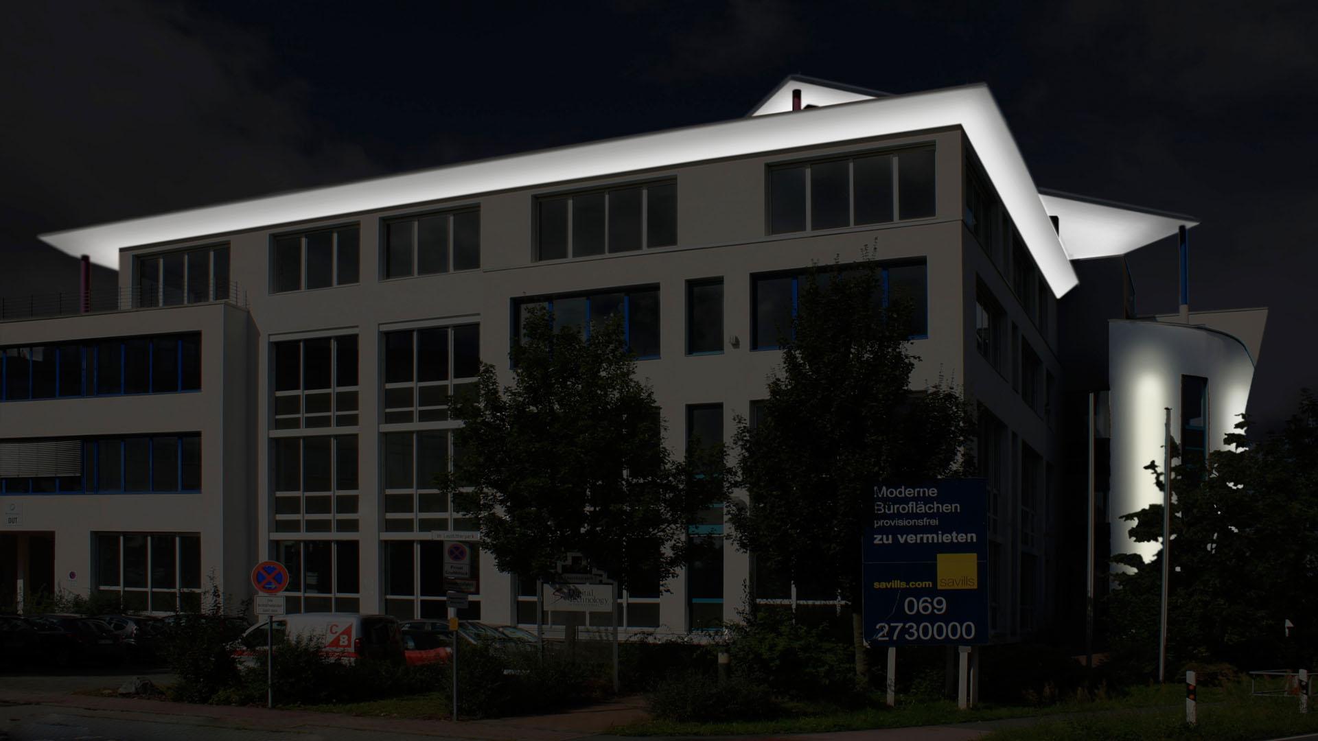 MAASS-Lichtplanung_Fassadenillumination in Darmstadt__MAASS-Leuschner-Park-002