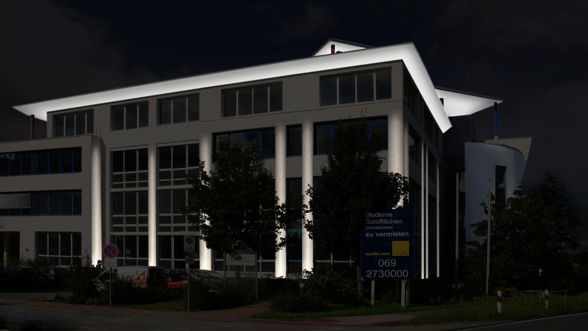 MAASS-Lichtplanung_Fassadenillumination in Darmstadt__MAASS-Leuschner-Park-003