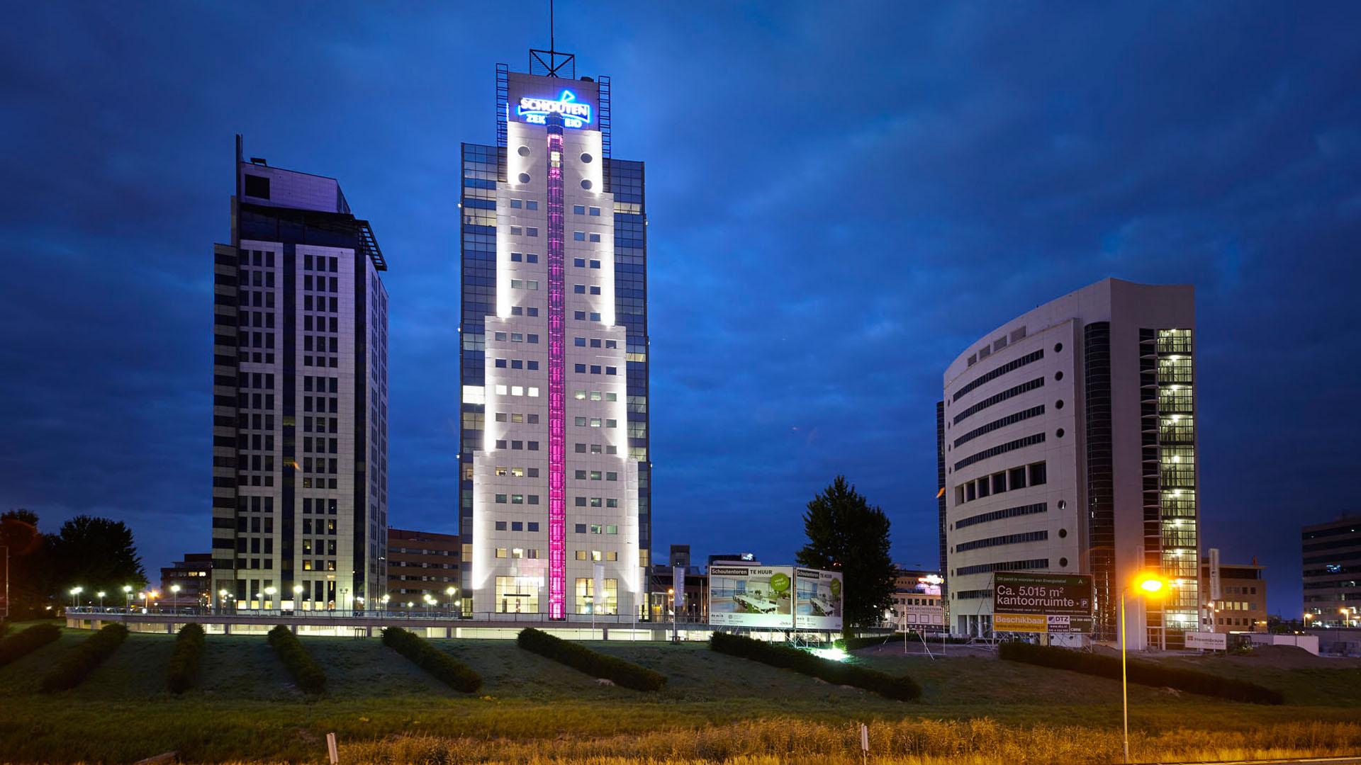 MAASS-Lichtplanung_Fassadenbeleuchtung in den Niederlanden__MAASS-Shouten-Toren-002