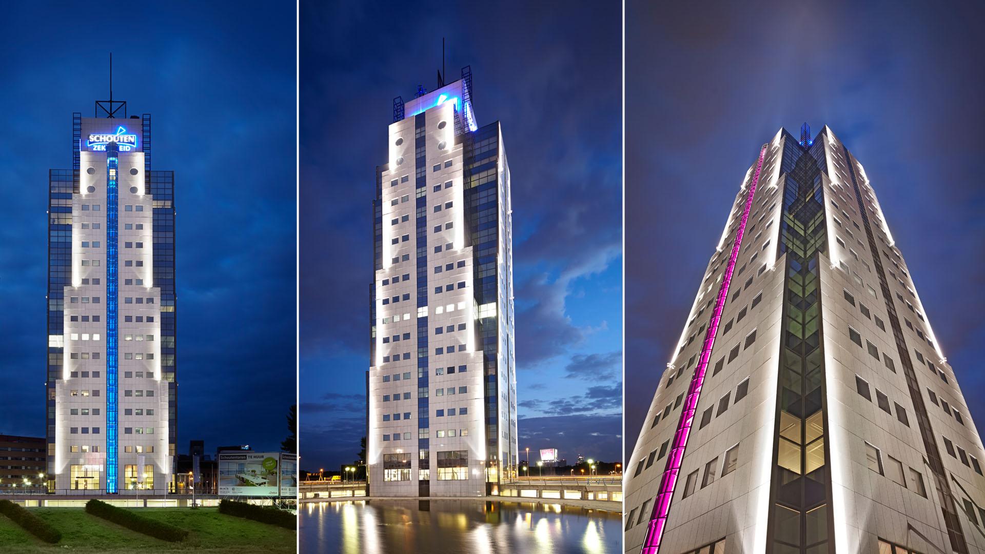 MAASS-Lichtplanung_Fassadenbeleuchtung in den Niederlanden__MAASS-Shouten-Toren-005