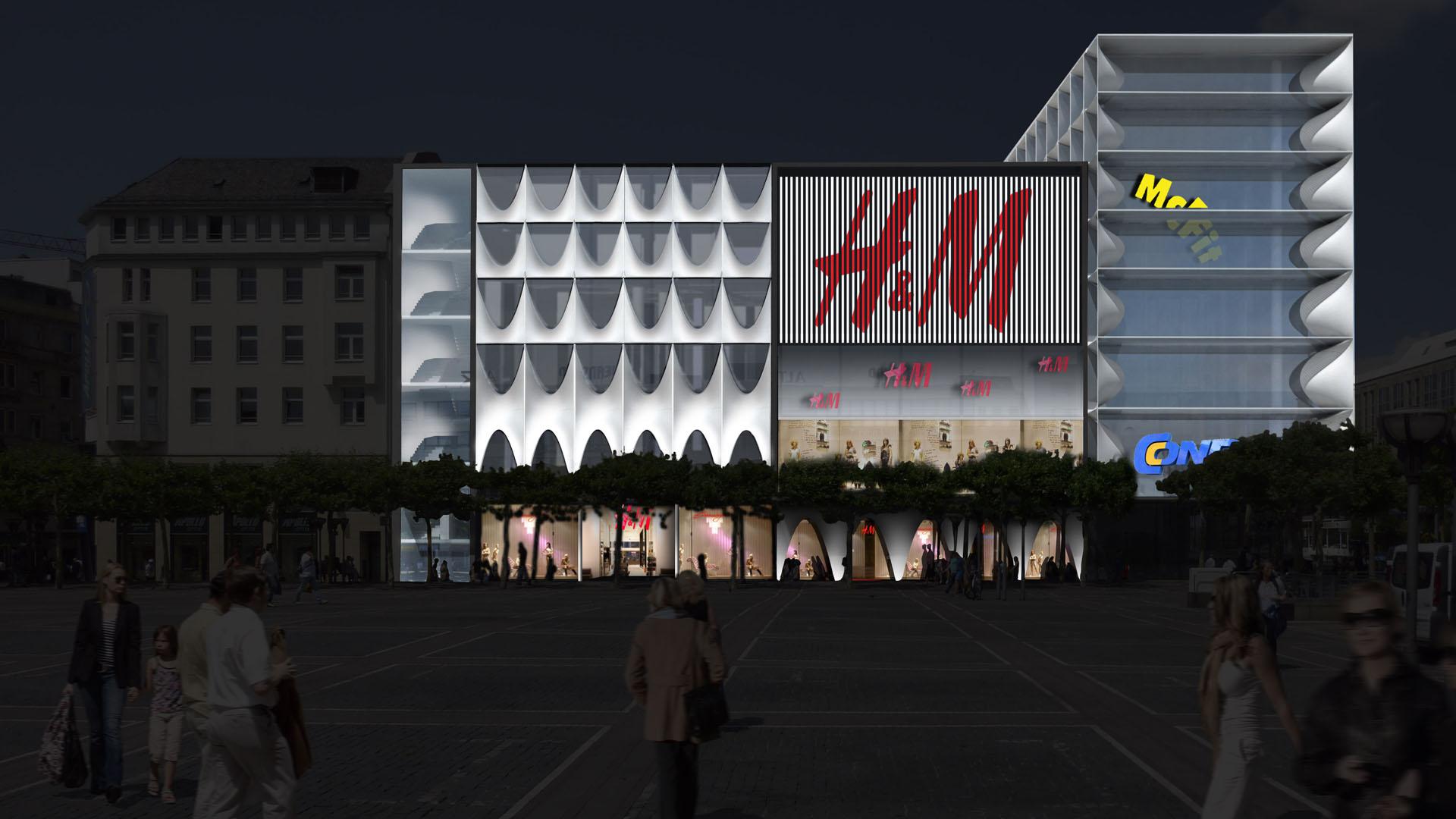 MAASS-Lichtplanung_Fassadenbeleuchtungskonzept für Frankfurter Geschäftshaus__MAASS-Zeil-001